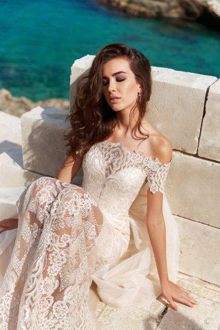 rochie de mireasa dantela sirena cara sposa dell amore 2018 2