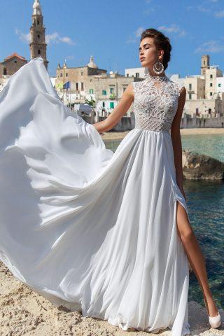 rochie de mireasa matase voal sifon stil empire aradea sposa dell amore 2