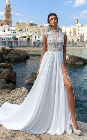 rochie de mireasa matase voal sifon stil empire aradea sposa dell amore