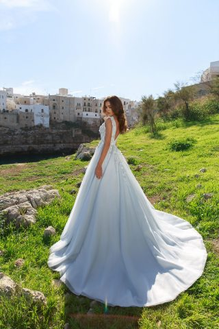 rochie de mireasa printesa bleo diamante flori 3 d cristale sposa dell amore 25