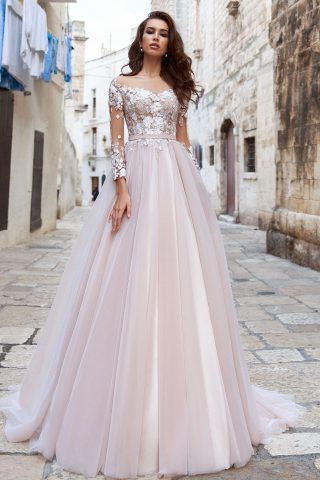 rochie de mireasa printesa dantela drina sposa dell amore 2018