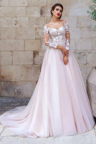 rochie de mireasa printesa dantela drina sposa dell amore 2018 6