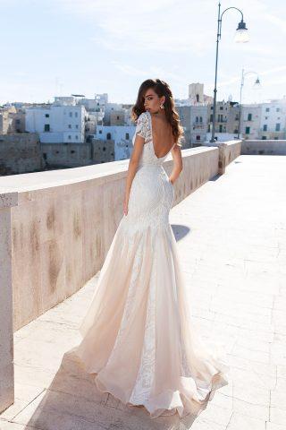rochie de mireasa sirena dantela ivory sampanie alegra sposa dell amore 2018 4