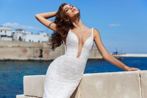 rochie de mireasa sirena elda dantela solzisori sposa dell amore 6