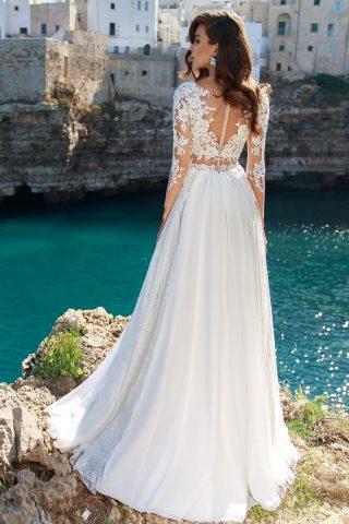 rochie de mireasa stil empire matase voal sifon broderie dani sposa dell amore 6
