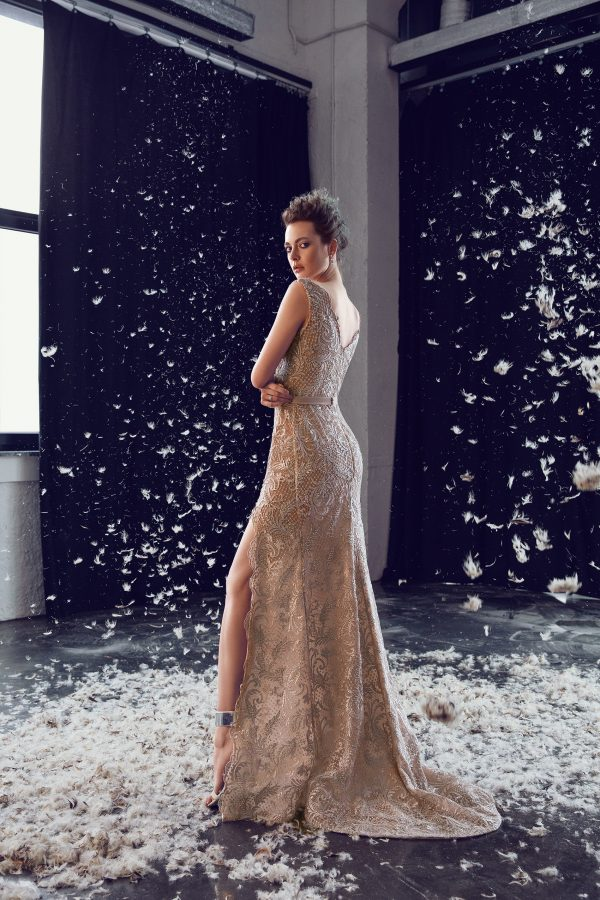 rochie de seara eleganta din dantela nude sposa ed 18 13 6