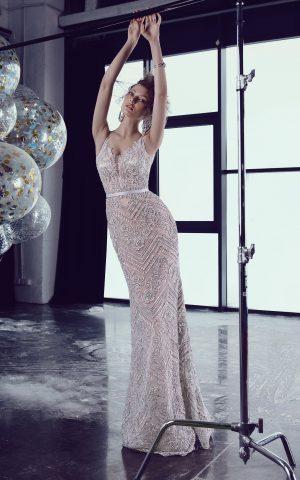 rochie de seara eleganta rochie de ocazie dantela cu margele sirena sposa ed 18 14