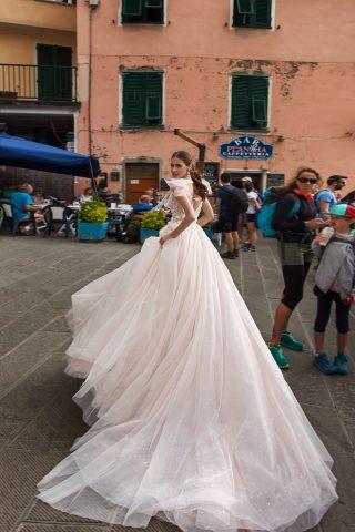 ROCHIE DE MIREASA STI PRINTESA TUL PERLE ROMANTICA MODERNA 2019 SPOSA DELL AMORE ARABELIA 2