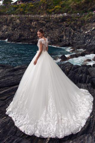 rochie de mireasa printesa pene dantela adilin sposa dell amore 2