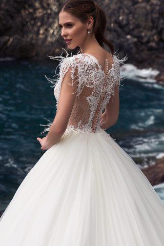 rochie de mireasa printesa pene dantela adilin sposa dell amore 8
