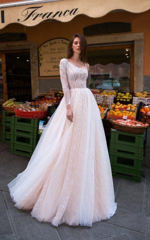 rochie de mireasa printesa tull paiete margelute estel 2019 sposa dell amore 2
