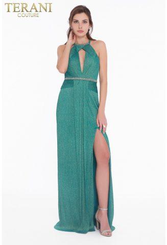 rochie de seara eleganta terani couture smalard aurie 1821e7119_emerald_back 6