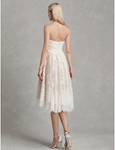 rochie de mireasa scurta pana la genunchi dantela chantilly 2019 rochie de mireasa ivory 06664507 6