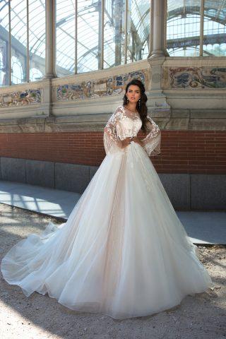 369A3330 rochie de mireasa printesa dantela maneca evazata broderie 2019 sposa dell amore