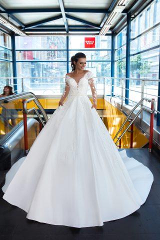369A5264 rochie de mireasa printesa veta tafta dantela 3d 2019