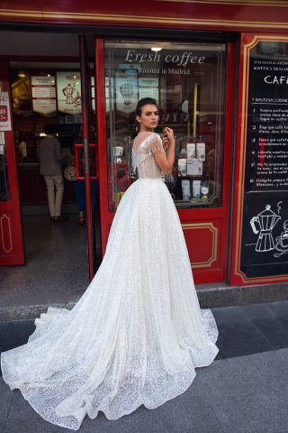 369A5511rochie de mireasa glitter stralucitoare cu franjuri de margele rochie printesa ivetta 2019 3