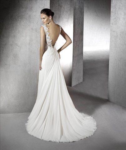 rochie de mireasa zahara sifon spate gol san patrick sposa dell amore 5