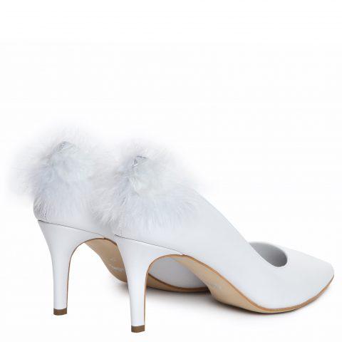 Pantof mireasa albi ivory